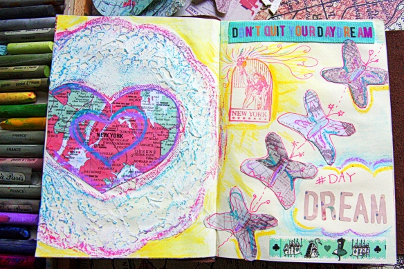 NYC art journal page by @debsnet https://theeduflaneuse.wordpress.com/