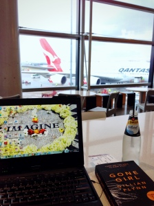awaiting departure at Sydney International Airport