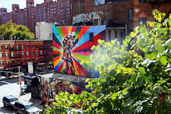 trust & rapport from the High Line: Eduardo Kobra's mural