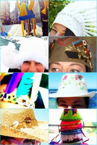 a collection of my many hats as snapped in Australia, England, Iceland, Sweden & Montenegro