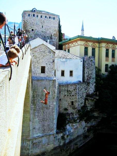 Mostar jumper: leap into discomfort