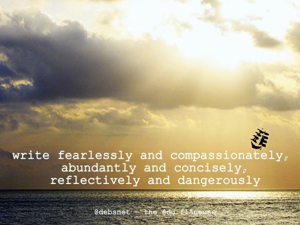 write fearlessly by @debsnet
