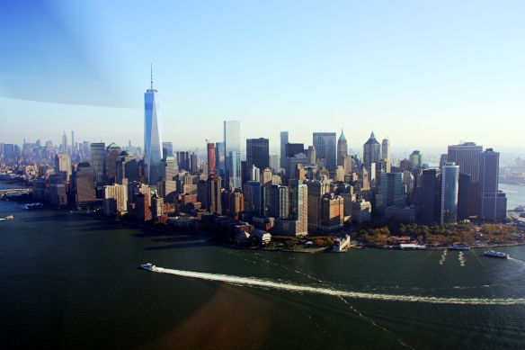 NYC skyline, by @debsnet