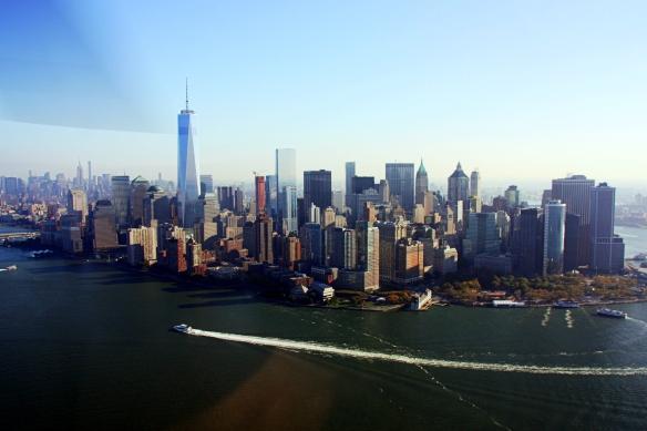 NYC skyline, by @debsnet