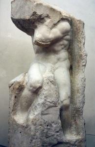Michelangelo's 'Atlas' Slave, credit: http://www.accademia.org/explore-museum/artworks/michelangelos-prisoners-slaves/