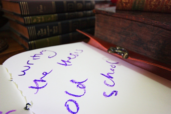 What counts as writing the thesis 'old school'?