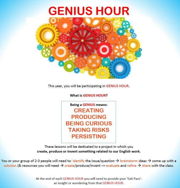 my Genius Hour poster