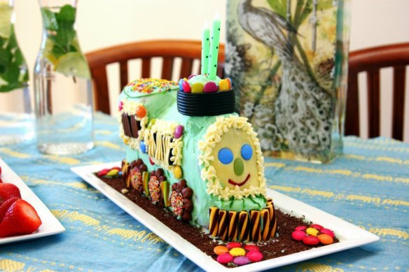 Tootle cake, the Golden Book train who likes to play in meadows rather than stay on the rails
