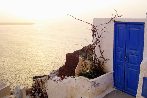 thinking of opening the PhD door? ~ Oia, Santorini