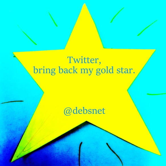 I've resorted to making my own gold star out of hacked up Post-Its
