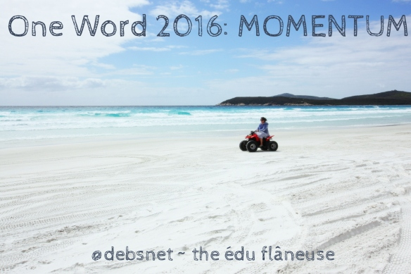 I spent the last day of 2015 in motion, quad biking along a beach.