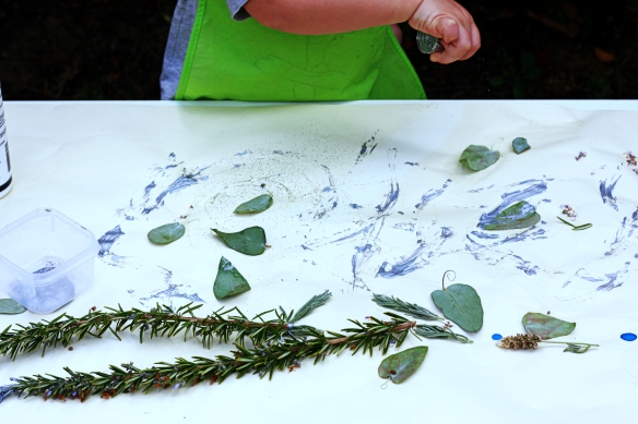 mess or creativity? painting with nature
