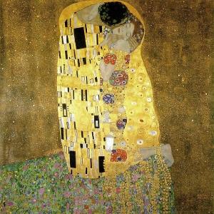 Gustav Klimt's 'Der Kuss', 1908 http://www.klimt.com/en/gallery/women.html