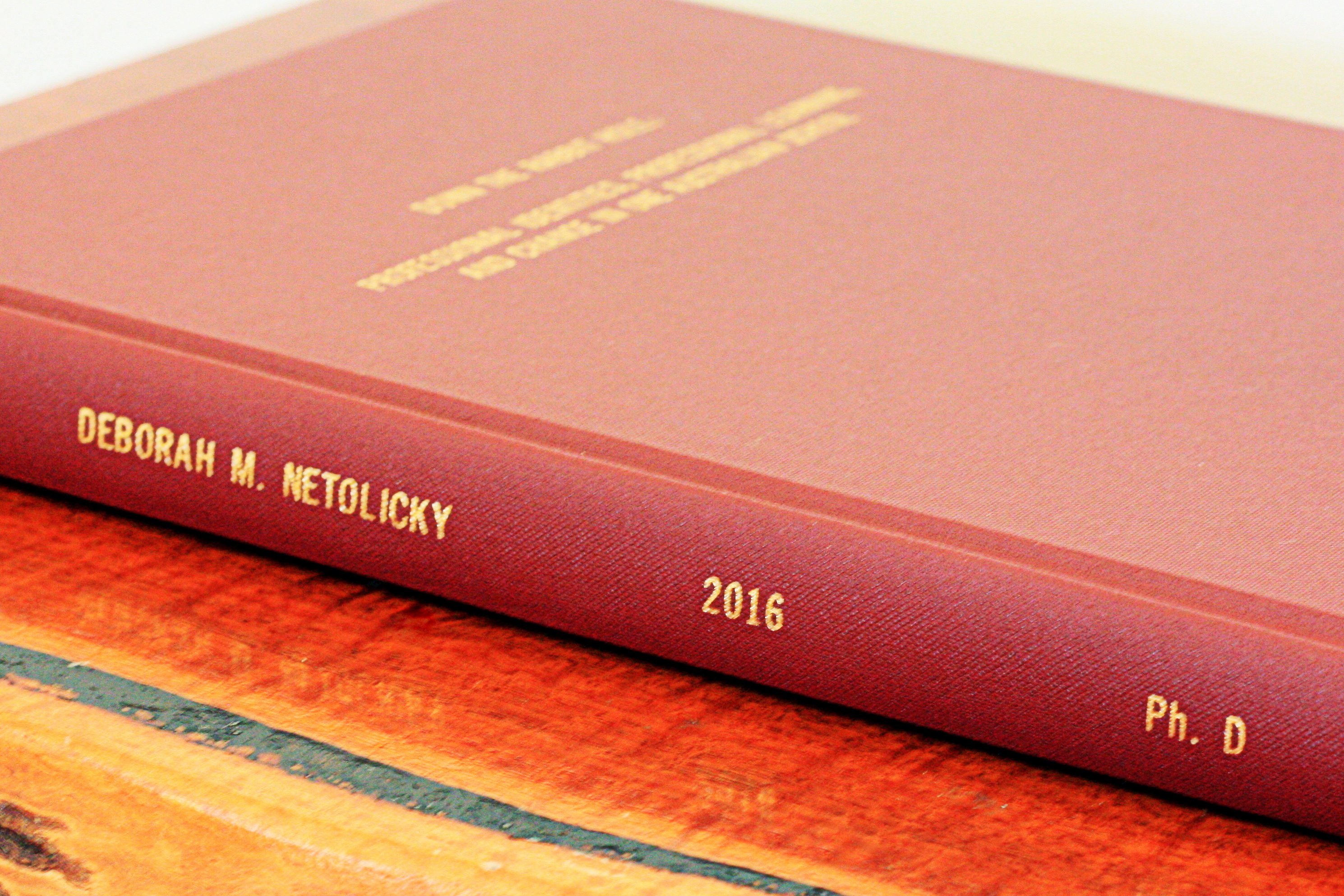phd thesis book