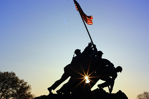 Iwo Jima at sunrise