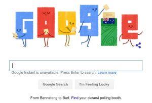 even Google got in on the Australian Election Day