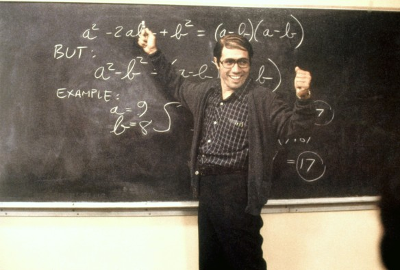 Jaime Escalante in 'Stand and Deliver'. Source: http://remezcla.com/film/edward-james-olmos-on-stand-and-delivers-25th-anniversary-and-the-release-of-filly-brown/