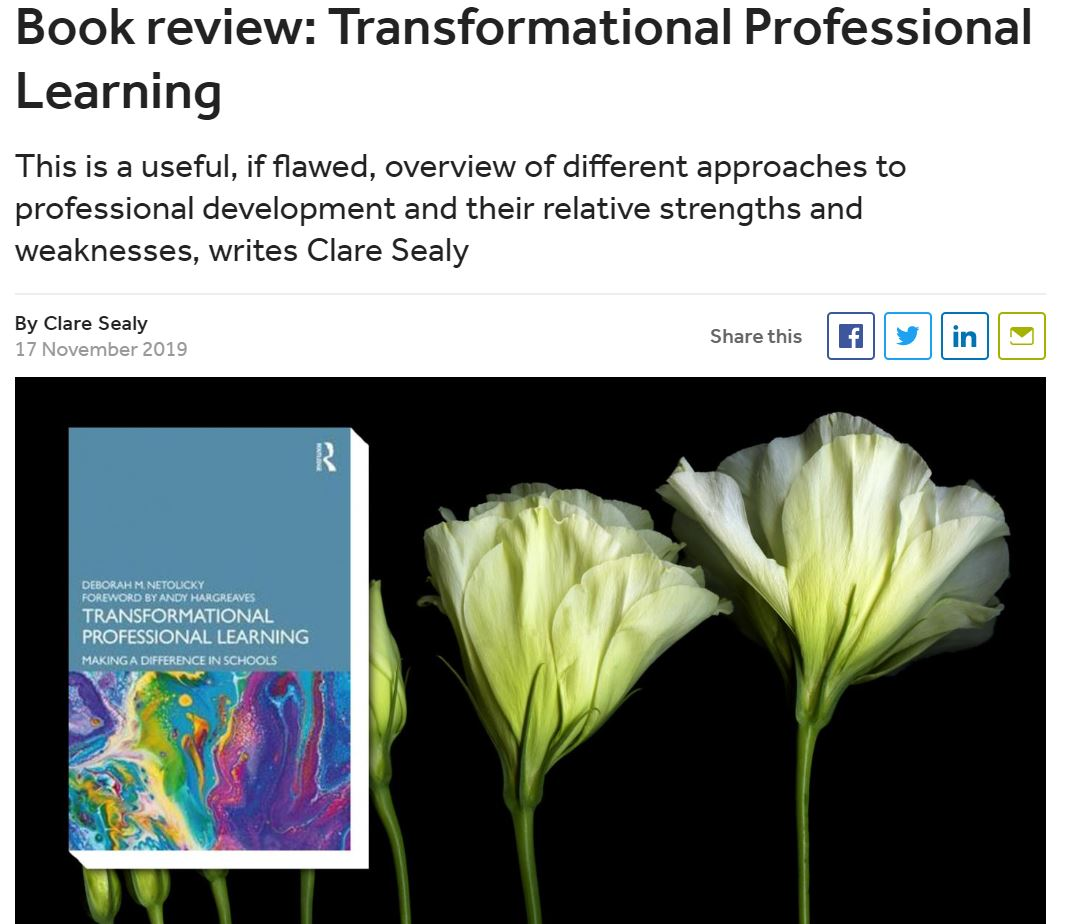 https://www.tes.com/news/book-review-transformational-professional-learning