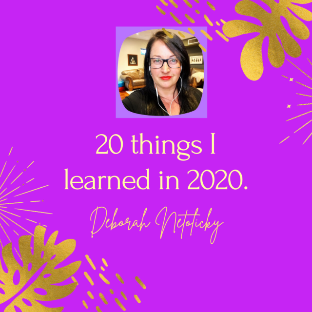 20 things I learned in 2020.   the édu flâneuse